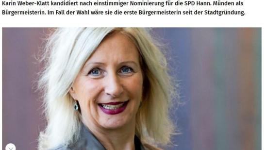 Dr. Karin Weber-Klatt kandidiert in Hann. Münden
